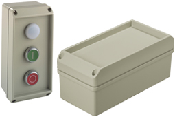 conTROL IP66 diecast aluminium enclosures with button recess