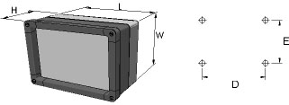 aluFACE KVF Enclosures Dimensions