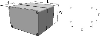 aluNORM AH Enclosures Dimensions