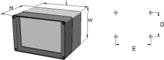 aluFACE KE Enclosures Dimensions