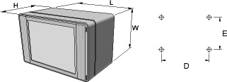 technoCASE Enclosures Dimensions