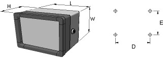 aluFACE KCE Enclosures Dimensions