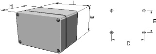 aluKOM Enclosures Dimensions